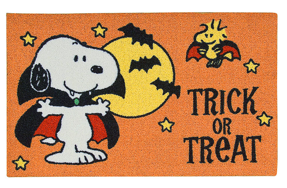 Snoopy Halloween Accent Rug / Door Mat - Trick Or Treat