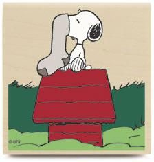 Snoopy's Stocking RUBBER STAMP