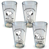 Snoopy Philosophy Pint Glass Set