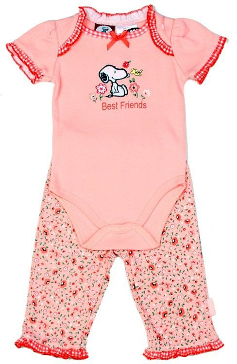 Snoopy Girls Infant 2-Piece Set