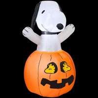 Snoopy In Pumpkin Halloween Lighted Inflatable