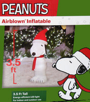 Snoopy Santa LED-Lighted Christmas Inflatable