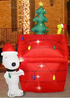 Snoopy's Christmas Doghouse Lighted Inflatable - 7 Feet Tall!