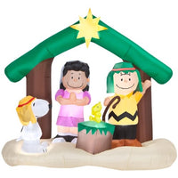 Peanuts Lighted Nativity Scene  - 6 Feet High!
