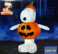 Snoopy Halloween Jack 'O Lantern Lighted Inflatable