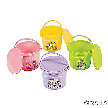 Peanuts Inspirational Pail With Lid - Great For Easter!