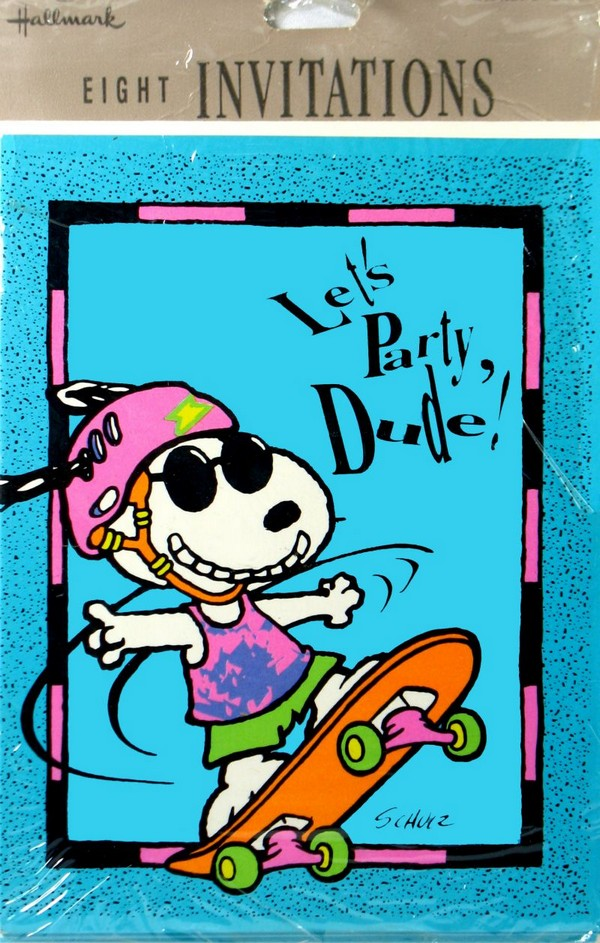 "Joe Cool Party Invitations - ""Let's Party Dude"""