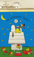 Snoopy Slumber Party Invitations