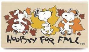 """Hooray For Fall"" RUBBER STAMP"