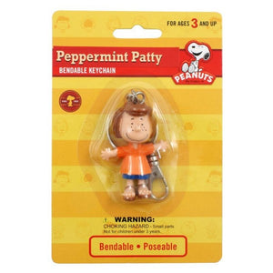 Bendable PVC Key Chain - Peppermint Patty