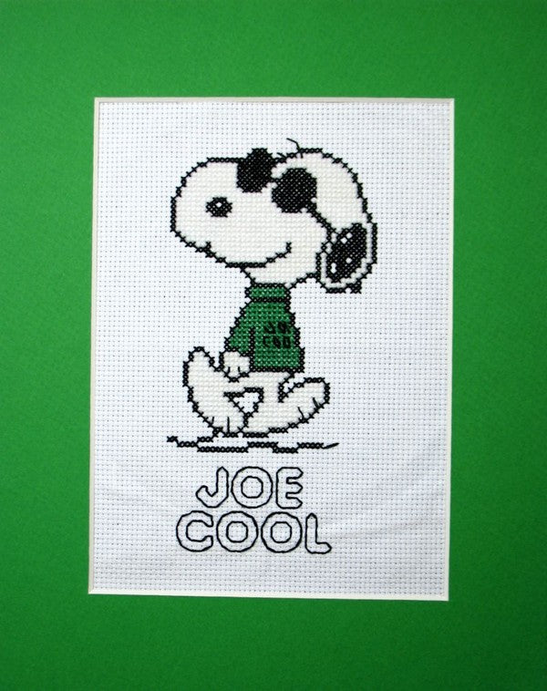 Joe Cool Needlepoint Picture (Completed)