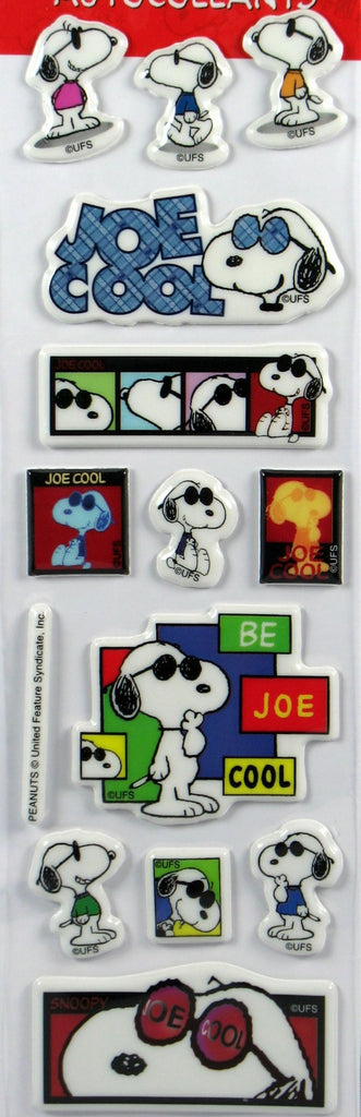 Joe Cool Puffy Stickers