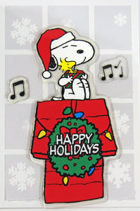 3-Piece Peanuts Christmas Jelz Window Clings - Happy Holidays