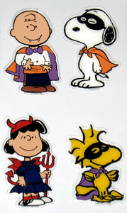 4-Piece Peanuts Gang Halloween Jelz Window Cling Set