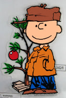 Charlie Brown Christmas Jelz Window Cling - Christmas Tree