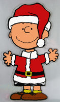 Charlie Brown Christmas Jelz Window Cling - Santa