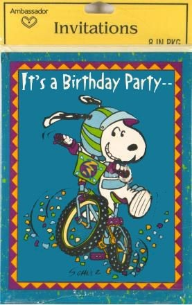 Joe Cool Biker Party Invitations