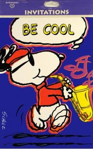 Joe Cool Sax Player Party Invitations