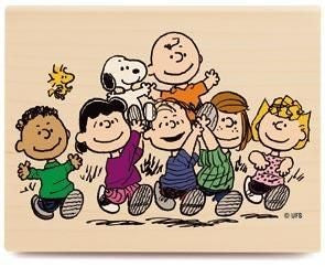 Peanuts Gang RUBBER STAMP