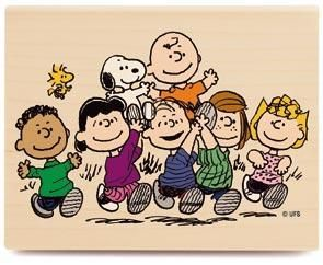 Peanuts Gang RUBBER STAMP (Used But Near Mint Condition)