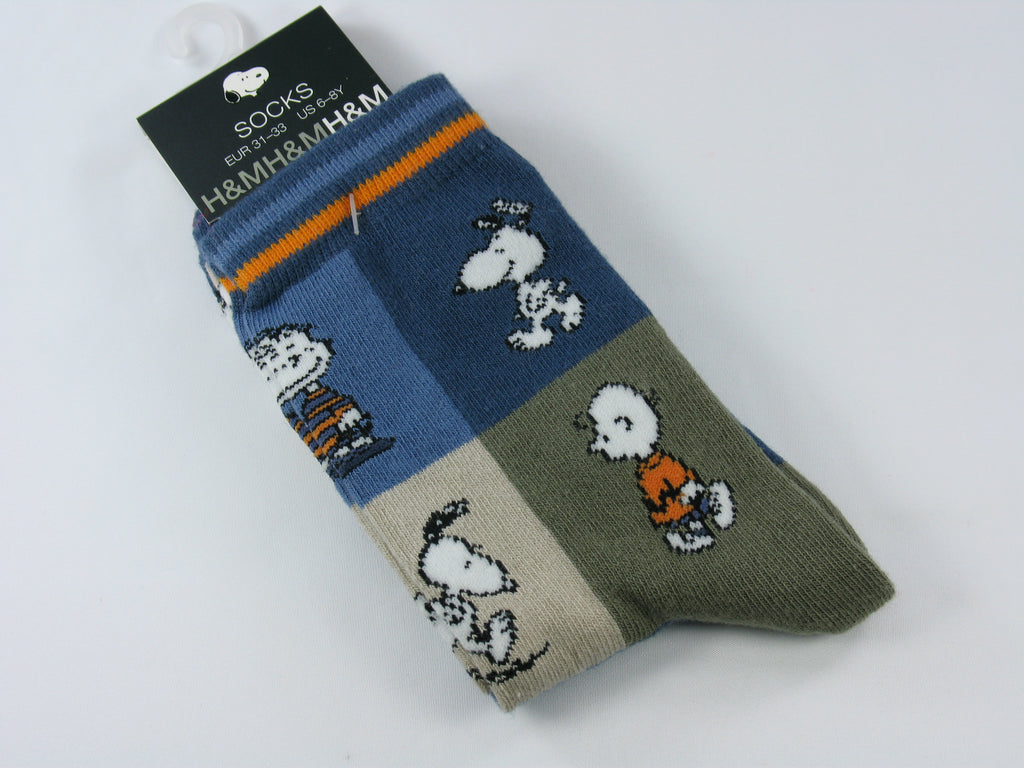 Kids Peanuts Crew Length Socks (6-8 Yrs.)