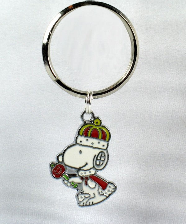 King Snoopy Silver Plated Key Chain