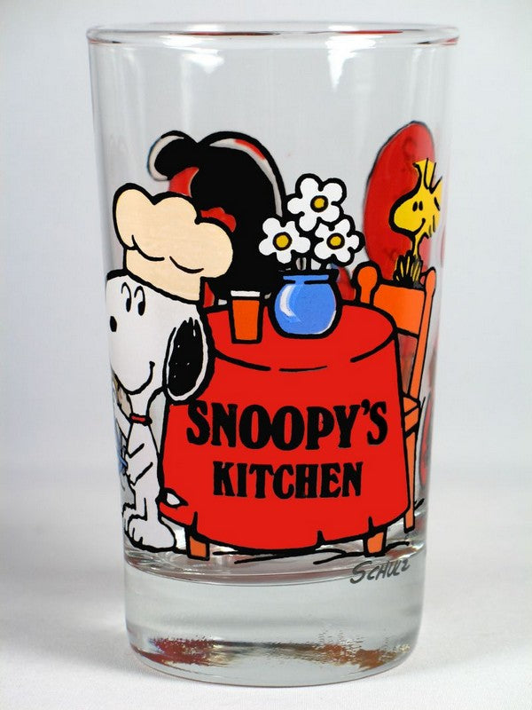 Snoopy's Kitchen drinking glass