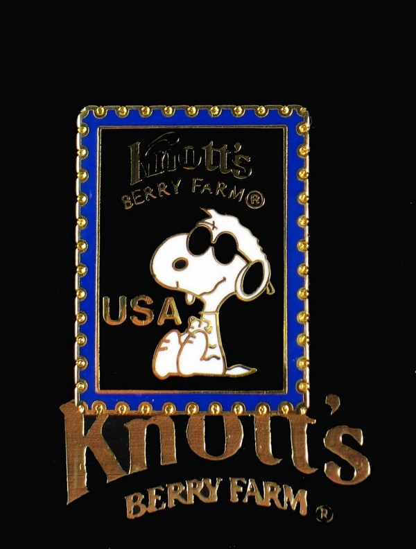 Knott's Stamp-Shaped Enamel Pin - Joe Cool