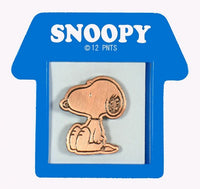Peanuts Bronze-Tone Pin With Doghouse-Shaped Frame - Snoopy