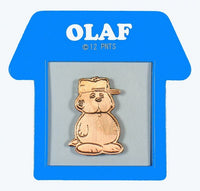 Peanuts Bronze-Tone Pin With Doghouse-Shaped Frame - Olaf