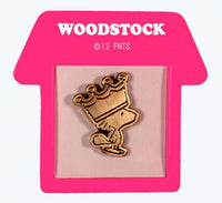 Peanuts Bronze-Tone Pin With Doghouse-Shaped Frame - Woodstock