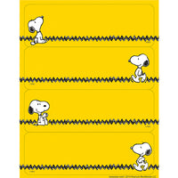 Snoopy Zig Zag Label Stickers