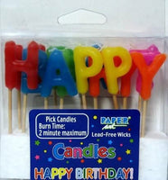 Birthday Letters Pick Candles