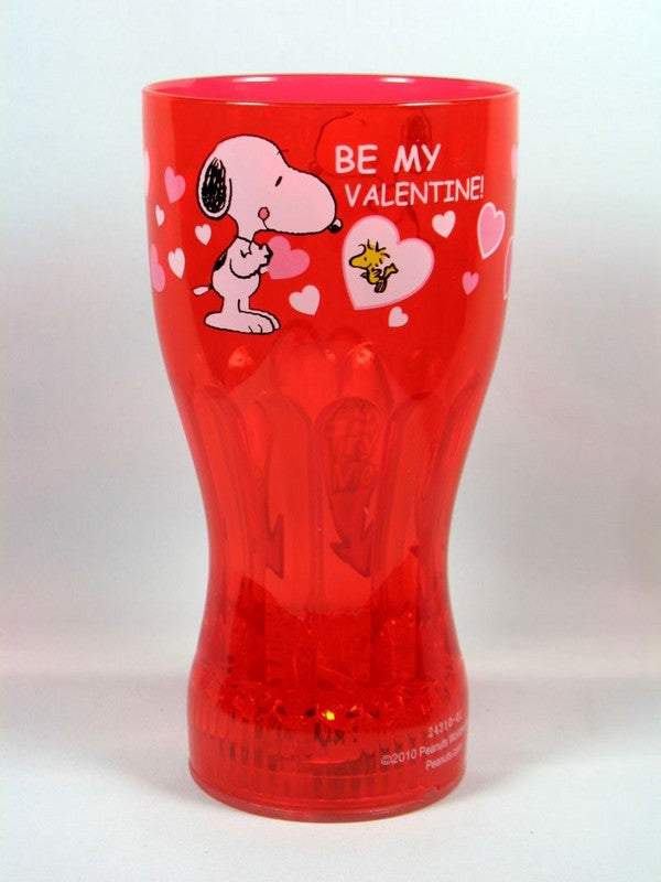 Blinking Lights Valentine's Day Drinking Glass - Red