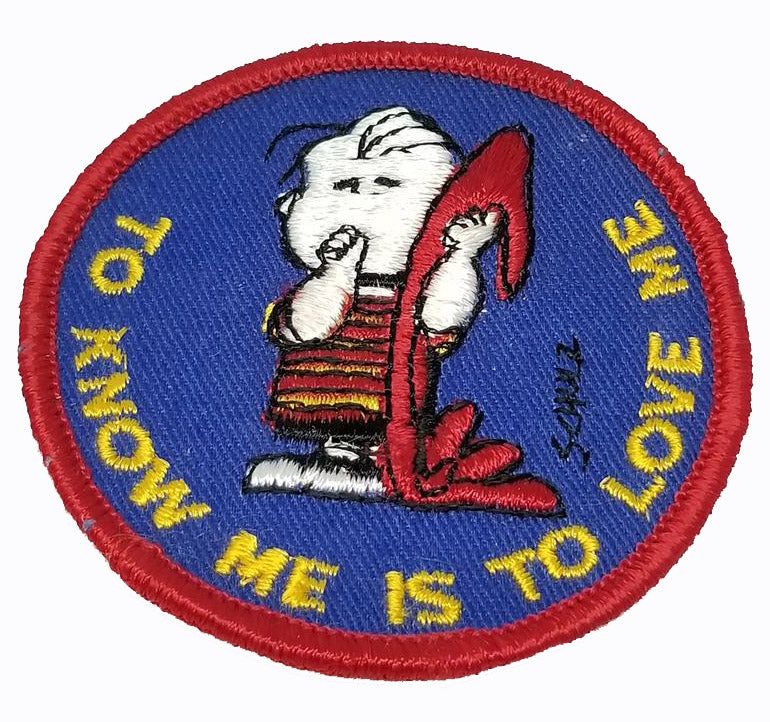 LINUS VINTAGE PATCH - TO KNOW ME IS TO LOVE ME