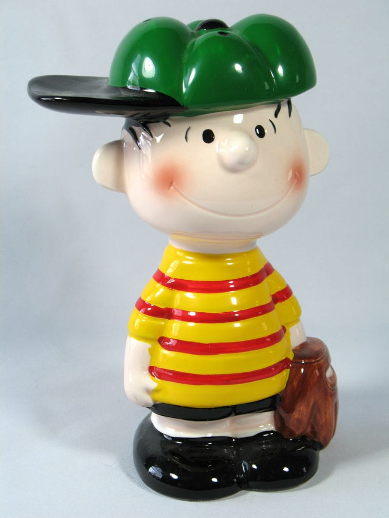 PEANUTS BASEBALL SERIES PORCELAIN BANK - Linus