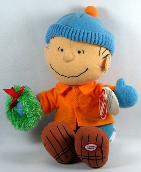2011 Peanuts Gang Christmas Plush Doll With Sound - Linus
