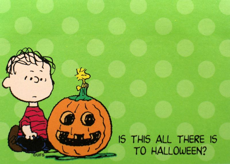 Snoopy Halloween Sticky Notes Pad - Linus