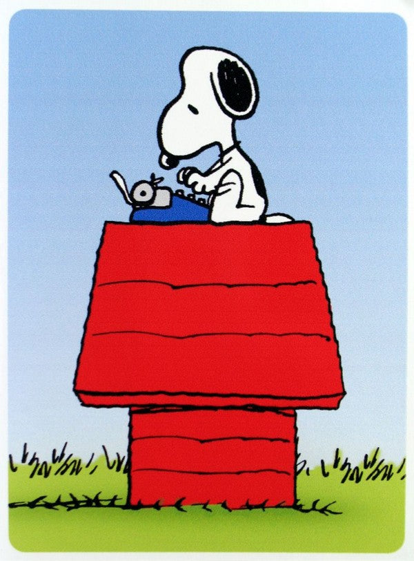 Snoopy Literary Ace Indoor/Outdoor Vinyl Sticker