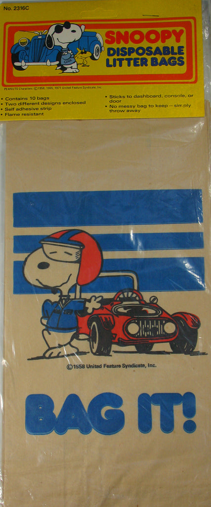 Snoopy Disposable Litter Bags  / Lunch Bags