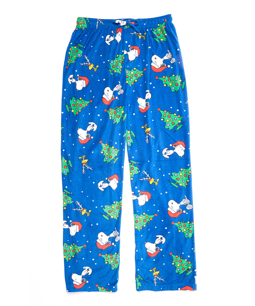 Snoopy Plush Christmas Lounge Pants - Super Soft!
