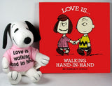 Snoopy Plush Book And Doll Gift Set - Love Is Walking Hand-In-Hand