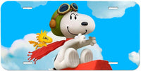 Snoopy Aluminum License Plate - Flying Ace