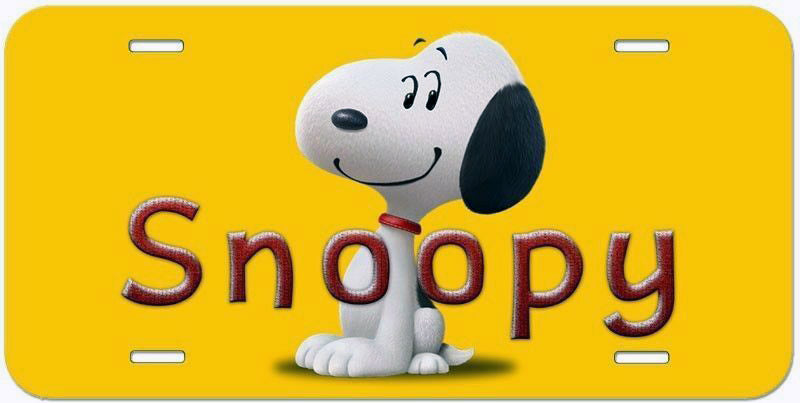 Snoopy Aluminum License Plate - Snoopy