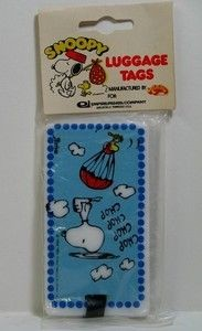 Snoopy Helicopter Luggage Tag
