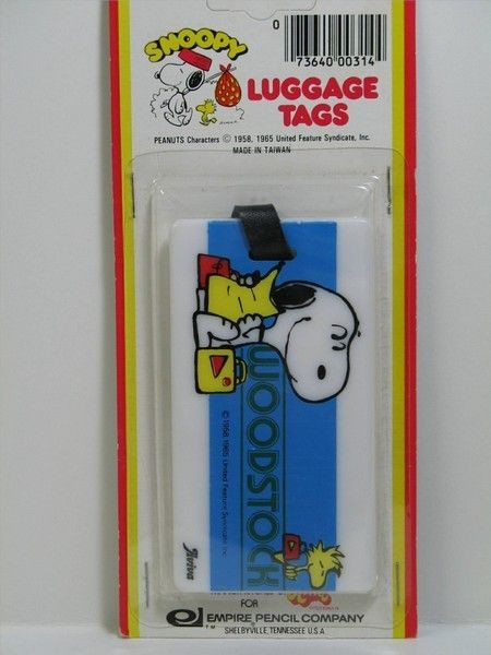 Snoopy and Woodstock Luggage Tag