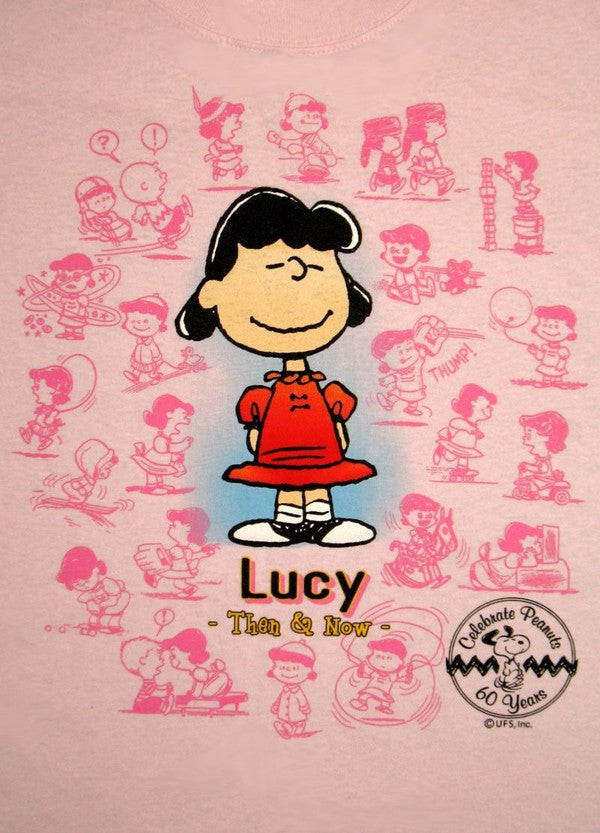 Peanuts 60th Anniversary Then and Now Shirt - Lucy (2XL Size Available)