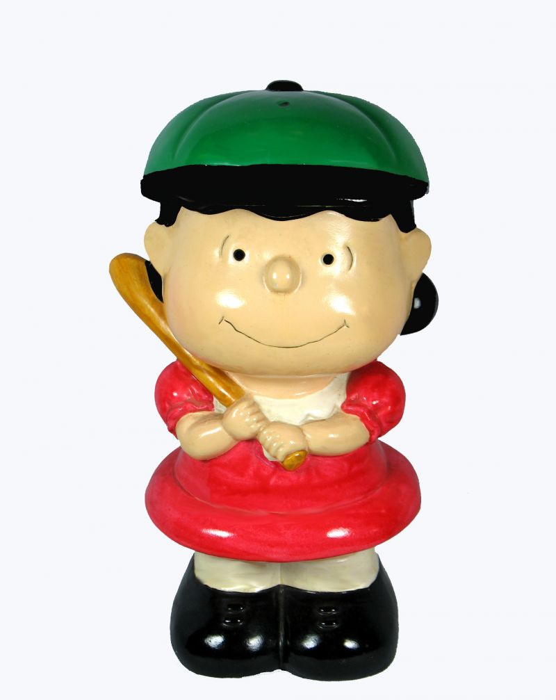 Peanuts Baseball Series Bank - Lucy