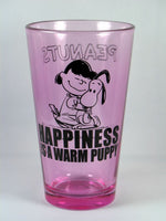 Lucy Drinking Glass - Happiness is a warm puppy