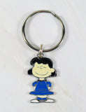 Lucy Silver Plated Zipper Pull (Blue Dress)